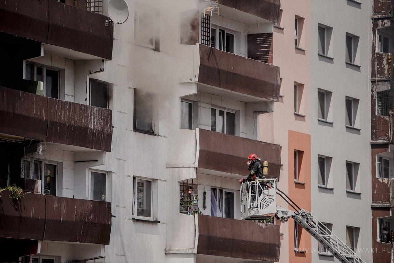 pożar mieszkania w sosnowcu